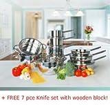 Jean Patrique 15-piece Stainless Steel Cookware Set