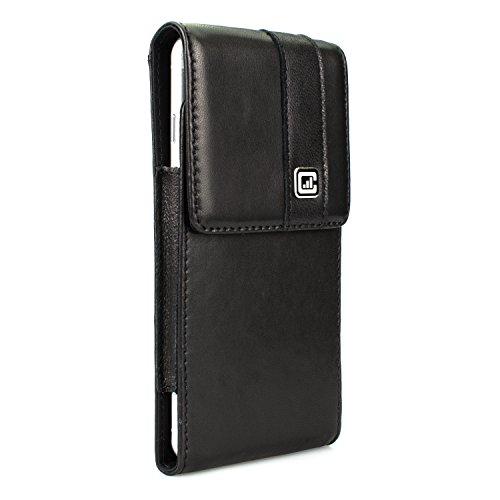 [NEW Gorilla Clip] CASE123 MPS Mk II SL Premium Genuine Lambskin Slim Vertical Swivel Belt Clip Holster for Apple iPhone 6 / 6s / 7 Plus for use with no cases or covers (Gorilla Clip compare prices)