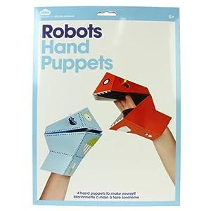 Set of 4 Robot Hand Puppets!