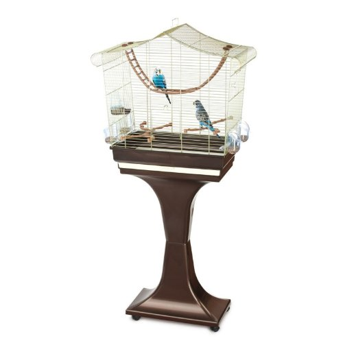 vogelk fig sofia mit st nder 63x33x61 cm chrome. Black Bedroom Furniture Sets. Home Design Ideas