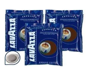 100 CIALDE CAFFE' LAVAZZA GRAND ESPRESSO TOSTATURA SCURA FILTRO IN CARTA 44MM + 100 CIALDE OMAGGIO