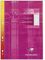 1 paquet de 200p copies doubles petits carreaux perforées format A4