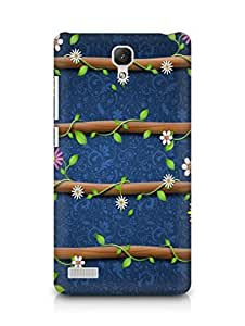 Amez designer printed 3d premium high quality back case cover forXiaomi Redmi Note Prime (cute floral)