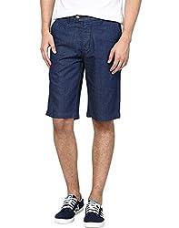 Zess Men's Denim Shorts (8903862961965_Dark Blue_36)