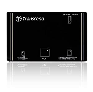 Transcend P8 15-in-1 USB 2.0 Flash Memory Card Reader TS-RDP8K from TRANSCEND