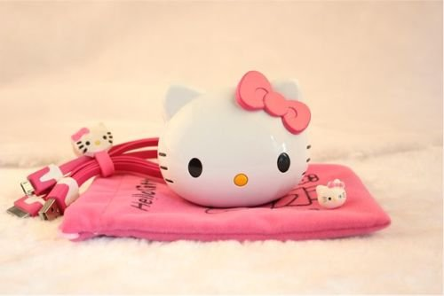 New Shop Red 8000Mah Hello Kitty Mobile Power Bank Usb Charger For Samsung Iphone 5C 5 4S
