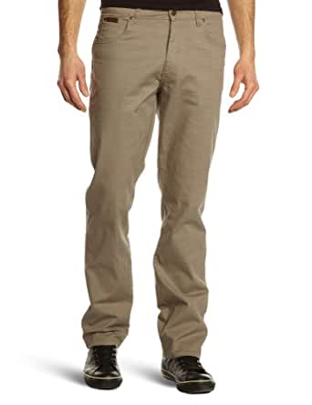 Wrangler - Pantalon - Coupe Droite - Stretch - Homme - Beige (Light Olive) - FR : W33/L30 (Taille fabricant : W33/L30)
