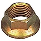 Steel Hex Flange Nut, Cadmium Plated Finish, Self-Locking Distorted Threads, Mil. Spec. MS21042, Inch