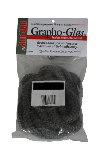 Best Review Of Rutland Grapho-Glas Woodstove Gasket Rope, 1/4 to 5/16 by 84-Inch