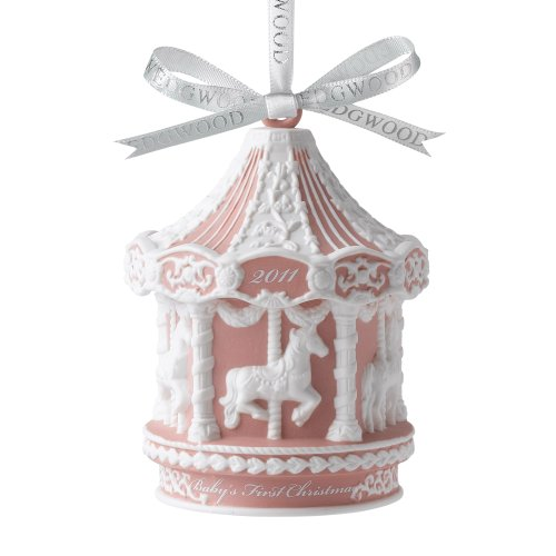 Wedgwood Annual 2011 Baby's 1st Carousel Pink Ornament