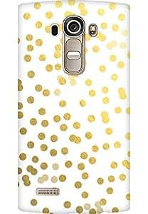 AMEZ designer printed 3d premium high quality back case cover for LG G4 (gold dots)