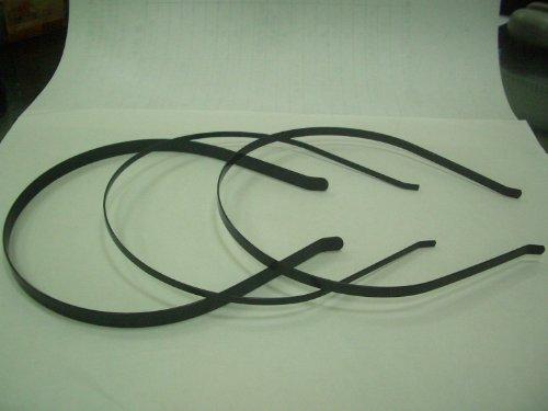 Black Metal Headbands Bent Ends 7mm (1/4 inch) (24) 24055