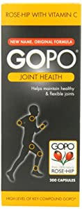 Gopo Rose Hip Joint Health Vitamin C Capsules - Pack of 200