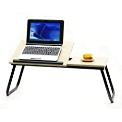 JPH Adjustable Foldable Laptop Table Portable Bed Tray Book Stand breit Tablet Lap Desk