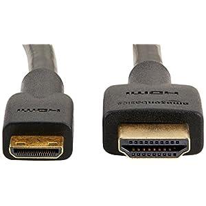 Amazonベーシック ハイスピードHDMIケーブル - 1.8m (タイプAオス- ミニタイプCオス)