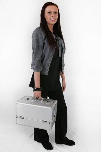 Medlar Professional Aluminium Framed Hairdressing, Beauty Therapist, Nail Technician Trolley Case 105s
