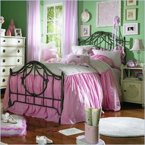 Cheap Lea Lea Emma's Treasure Kids Vintage White Metal Bed 4 Piece Bedroom Set (606-MB-PKG4)