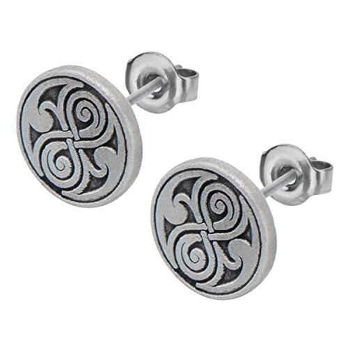Doctor Who Women's Seal of Rassilon Engraved Stud Earrings (Doctor Who Seal Of Rassilon Ring compare prices)