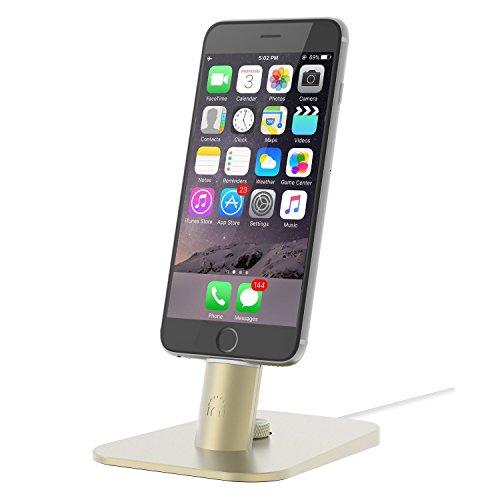 spinido®iPhone 対応 アルミニウム制 アップル純正のLightningケーブル対応(ケーブルなし )デスクトップ 充電スタンド iPhone5/5c/5s/6/Plus/iPad mini対応