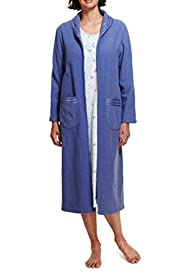 Zip Through Boucl� Dressing Gown [T37-2175-S]