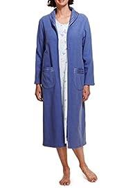 Zip Through Boucl� Dressing Gown [T37-2175-S]