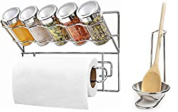 Spice-N-Roll Kitchen Napkin Tissue Holder and Ladle Stand