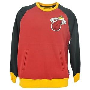 NBA Miami Heat Unk Logo Sweatshirt Terry Cloth Crew Neck Sweater Fleece by UNK