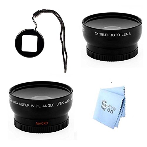 Gopro Hero3 And Hero3+ Wideangle & Telephoto Lens With Lens Filter Adapter