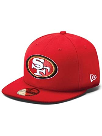 NFL Mens San Francisco 49ers On Field 5950 49ers Red Game Cap By New Era by New Era