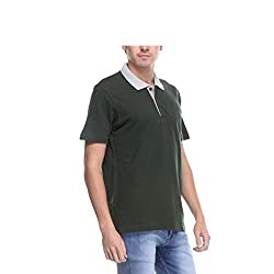Opg Men's Cotton Polo (O211T005_Green_X-Large)
