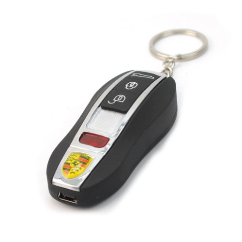 New Black USB Electronic Flameless Cigar Lighter Rechargeable Battery Key Ring