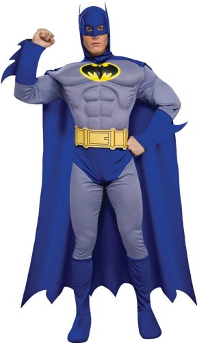 Batman Brave Deluxe-muscle Adult Costume Md Adult Mens Costume