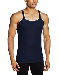 Jockey Mens Cotton Vest (8901326043653_US30-0105-NAVY Navy L)