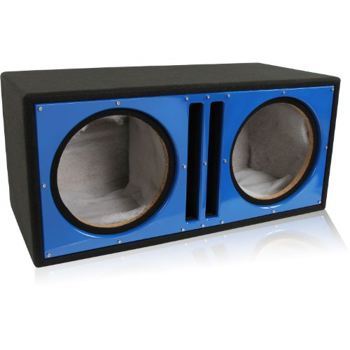 "Belva Bbx212Bl Dual 12"" Ported Blue Baffle Car Subwoofer Box Made With 3/4"" Mdf And Lined W/ Polyfil"