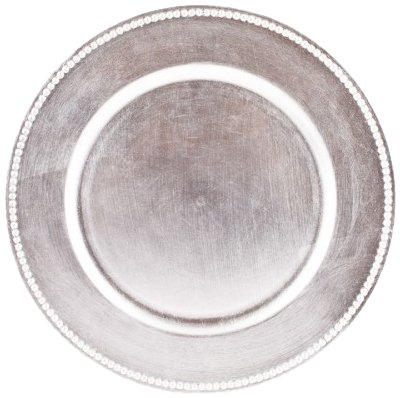 Silver Charger Plates Set of 24 by Koyal