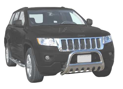 TYGER Custom Fit 11-15 Jeep Grand Cherokee Stainless Grille Bumper Bull Guard Light Bar (Jeep Cherokee Smittybilt Bumper compare prices)