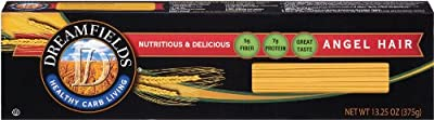 Dreamfields Pasta Angel Hair, 13.25 Ounce Boxes (Pack of 10) from Dreamfields Pasta