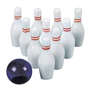 Amazon.com: Plastic Mini Bowling Set: Toys & Games