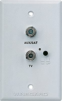 Winegard RV-7542 White Wall Plate Power Supply