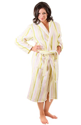 Del Rossa Women's Fleece Dressing Gown (USA Seller)