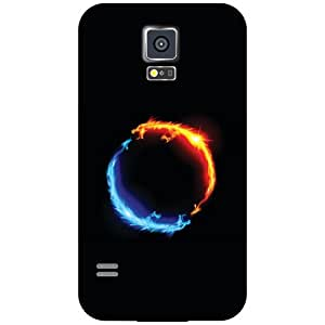 Samsung Galaxy S5 Phone Cover - Fired Ball Matte Finish Phone Cover