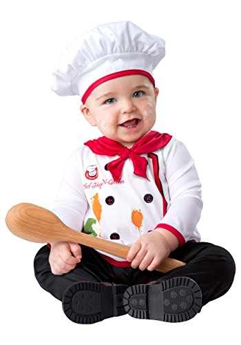 [In Character unisex-baby Infant Hugs and Quiches Chef Costume Small] (Baby Chef Costumes)