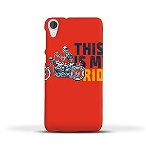 FUNKYLICIOUS HTC Desire 820 Back Cover Ride on Design (Multicolour)