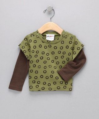 Sckoon Organic Cotton Baby Wa-Tee - Green Tea 1-2Yr back-65729