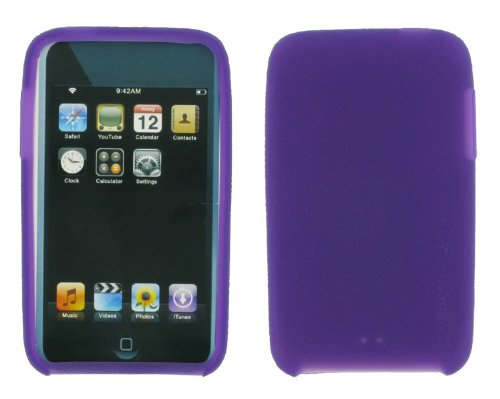 Premium Smooth Silicone Skin Case Cover With Screen Protector For Ipod Touch 2 Geneartion 2 8Gb 16Gb 32Gb Mp3 Player + Bonus Young Micro Shoe Silicone Skin Pouch Compatible With Nike+ Sensor (Ipod Touch 2 Not Included), Purple