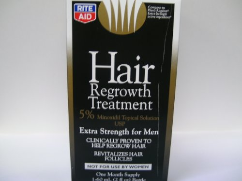Rite Aid Hair Regrowth Treatment, for Men, Extra Strength, 2 oz