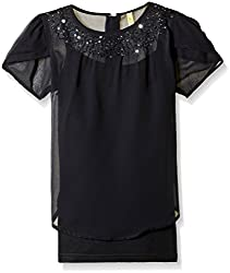 Gini & Jony Baby Girls' Blouse Top (122033169276 1296_Black_12-18 Months)