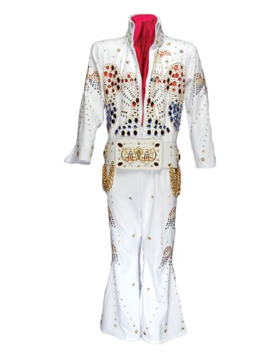 Men's Deluxe King Elvis Jumpsuit Costume