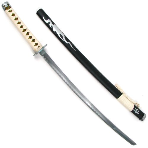 Trademark Flaming Samurai Sword Ninja Katana, 40-Inches