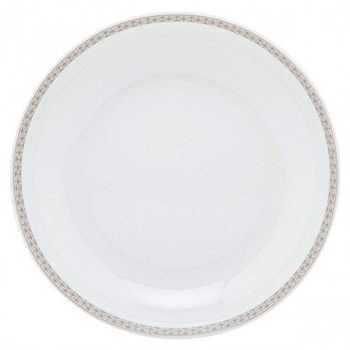 Guy Degrenne 206962 Romy Grège Lot de 6 Assiettes Creuse Calotte Porcelaine Brun 21 x 21,4 x 1,53 cm